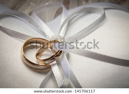 Beautiful background with ring - stock photo