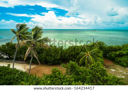 Beautiful Bahia Honda state park in the Florida Keys. - stock photo