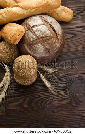 Beautiful Bakery Bread border - stock photo