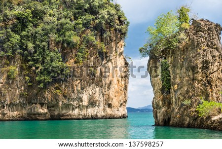 Beautiful Bay in Hong Island - Krabi Province, Thailand - stock photo