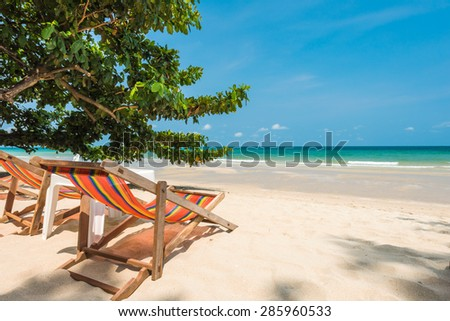 Beautiful beach at Koh Chang island , Thailand - stock photo