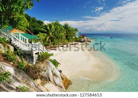 Beautiful beach at Perhentian islands, Malaysia - stock photo