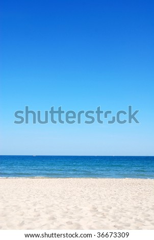 Beautiful beach background - stock photo