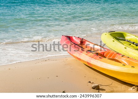Beautiful beach in island of Thailand - stock photo