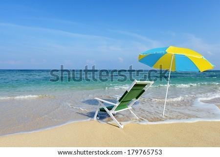 Beautiful beach in Okinawa - stock photo