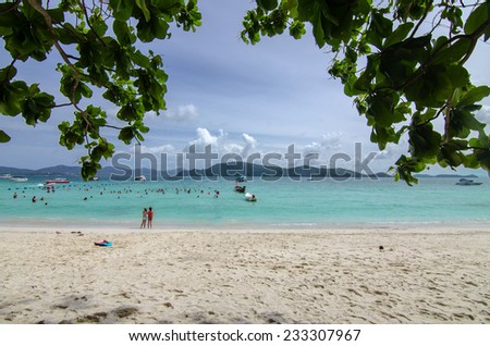 Beautiful beach in Phuket , Thailand - stock photo