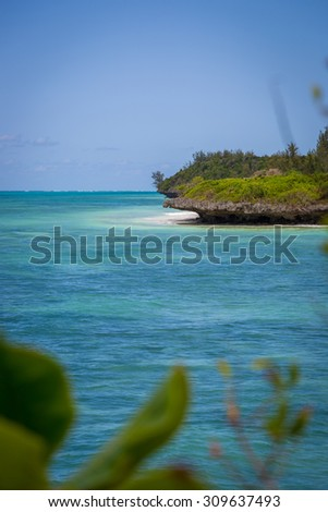 Beautiful beach in Zanzibar, Tanzania, Africa - stock photo