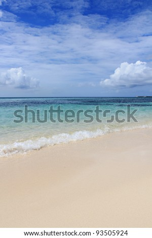 beautiful beach on the cayman islands - stock photo