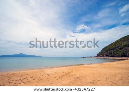 Beautiful beach on the Sibu island, Johor, Malaysia - stock photo