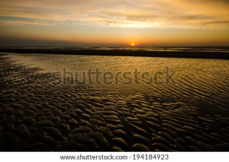 Beautiful Beach texture before sunset - stock photo