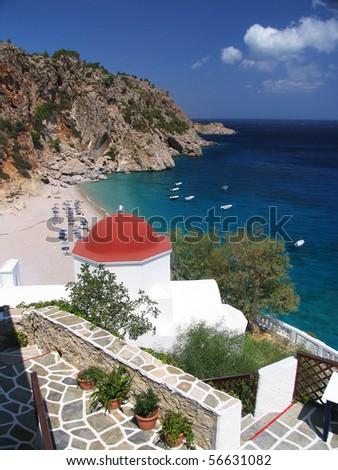 Beautiful beach view - stock photo