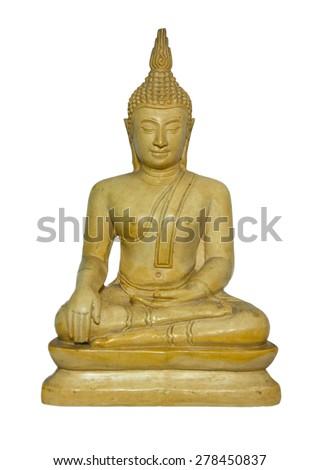 Beautiful Beige Buddha Sacred Statue - stock photo