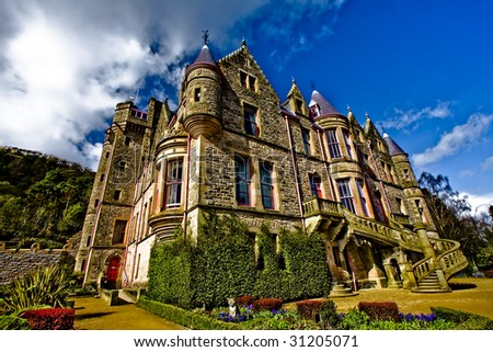 beautiful belfast castle - stock photo