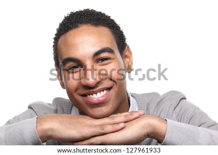 Beautiful black adolescent posing - stock photo