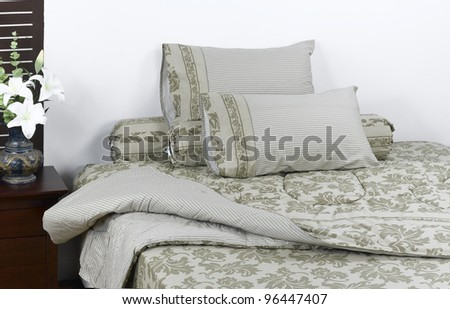 Beautiful blanket accessory in a nice bedroom - stock photo