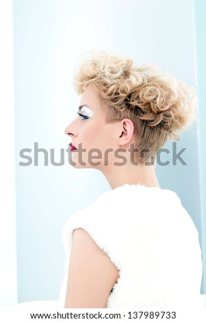 Beautiful blonde portrait - stock photo
