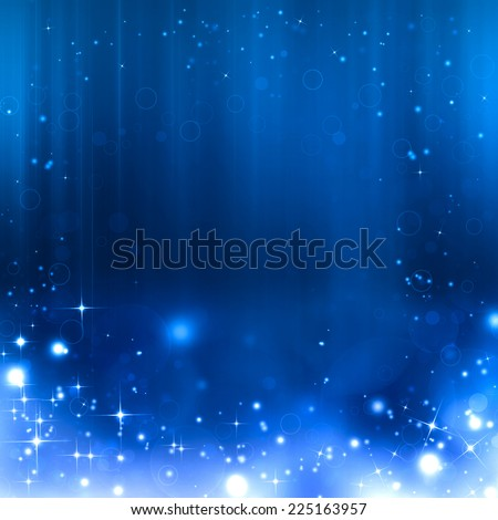 beautiful blue Christmas background - stock photo