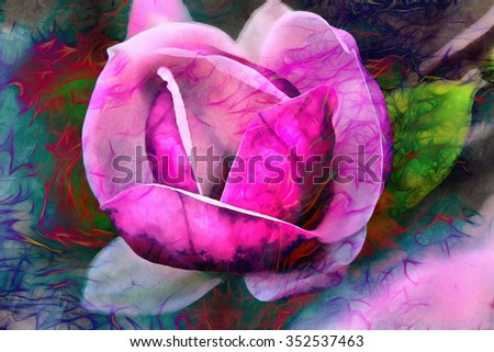 Beautiful blue color flower, Color Abstract background - stock photo
