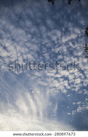 Beautiful blue sky and clouds - stock photo
