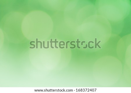 Beautiful blur and colorful abstract background in green - stock photo