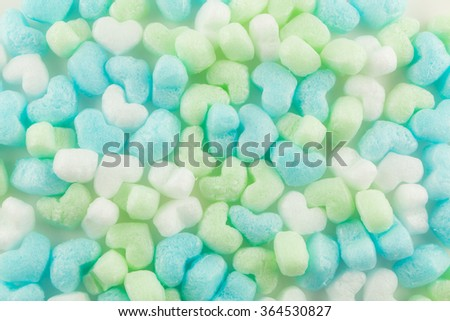 beautiful  blurred   with  corn cushion  packaging material for background - stock photo