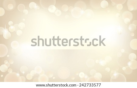 Beautiful bokeh background in a champagne color. - stock photo