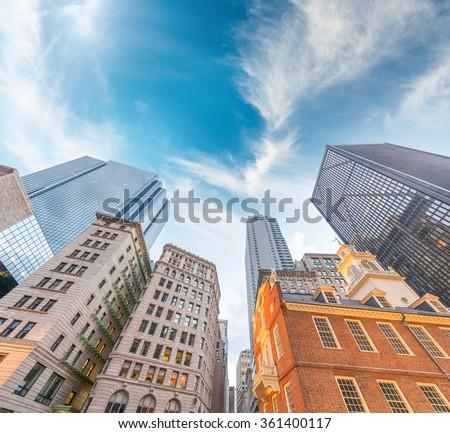 Beautiful Boston skyline. - stock photo