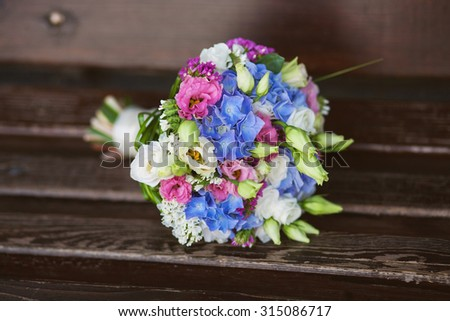 Beautiful bouquet of fresh flowers. Flowers for bride or bridesmaid - stock photo