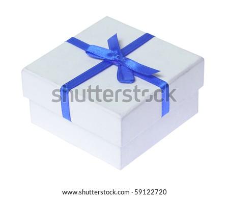 Beautiful box isolated on white - stock photo