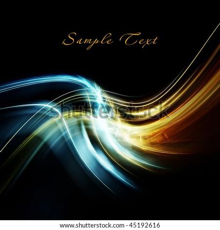 Beautiful bright fractal - stock photo