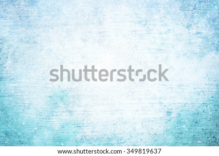 Beautiful bright grunge abstract bokeh snowflake cyan blue color copy space background. Magic textured Happy Holidays greeting card illustration background. - stock photo
