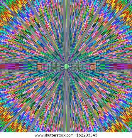 Beautiful Brightly Colored Geometric Fractal Pattern  - stock photo