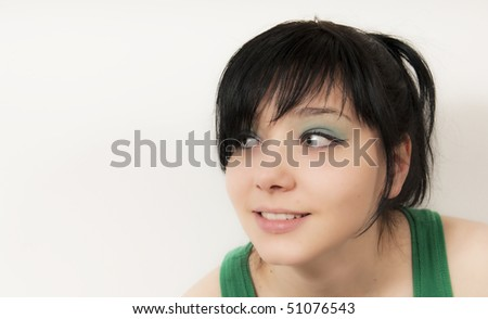 Beautiful Brunette Gril Portrait - stock photo