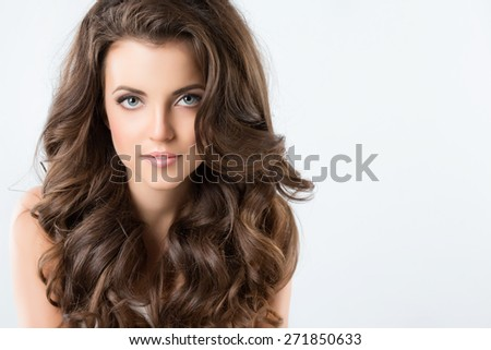 Beautiful Brunette Woman.  - stock photo
