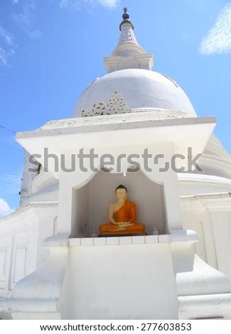 Beautiful buddhist stupa in Sri Lanka - stock photo