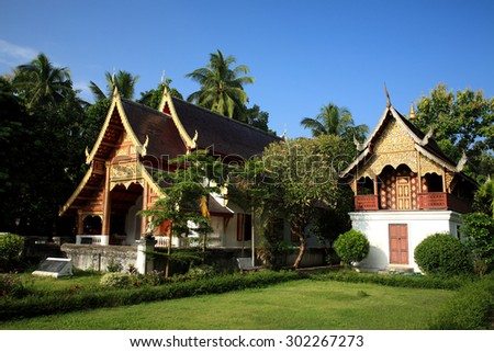Beautiful Buddhist temple in Chiang Mai, Thailand - stock photo