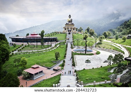Beautiful budhha park at Ravangla,south sikkim  - stock photo