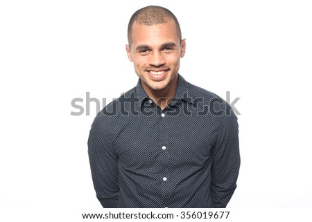 Beautiful business man posing - stock photo