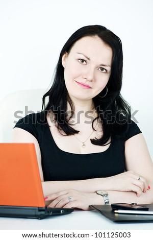Beautiful business woman - stock photo
