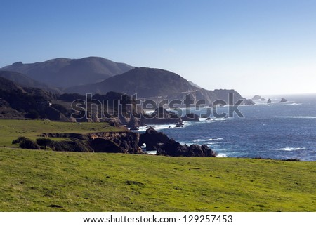 Beautiful California Coastline Near Big Sur - stock photo