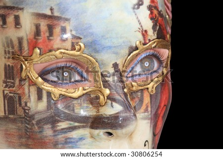 Beautiful carnival mask from venice Italy - stock photo