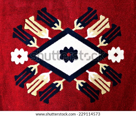 Beautiful Carpet Motif - stock photo