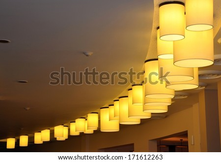 Beautiful ceiling lights - stock photo