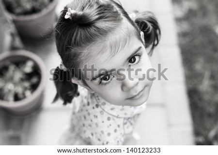 Beautiful child - stock photo