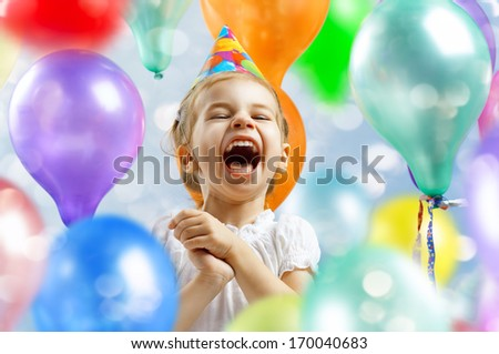 beautiful child enjoying life - stock photo