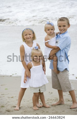 Beautiful Children Portrait - stock photo