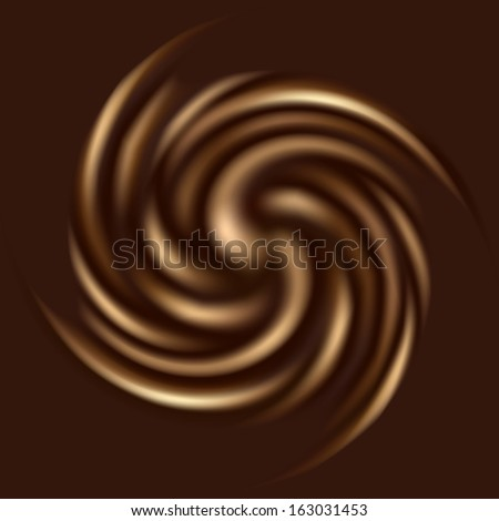 Beautiful chocolate swirl for your design (raster illustration) - stock photo