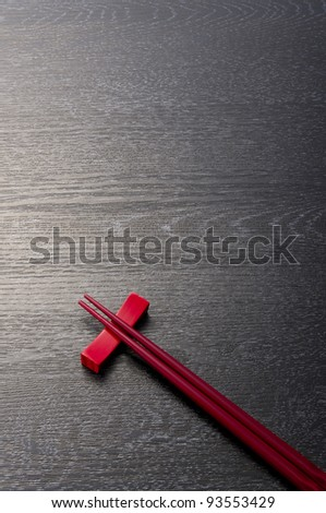 beautiful chopsticks - stock photo