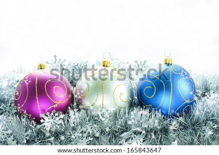 Beautiful Christmas ball for Decoration on white background. - stock photo