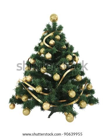 Beautiful Christmas Tree - stock photo